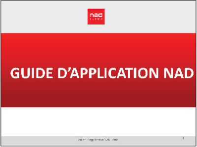 guide application NAD
